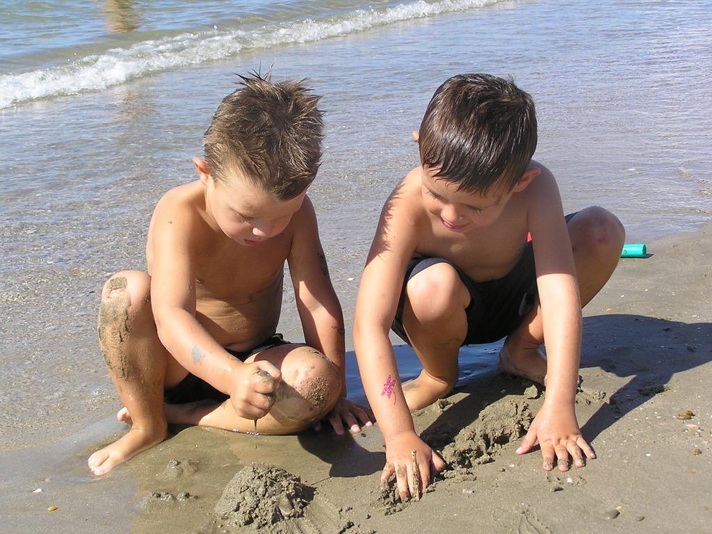 enfant plage
